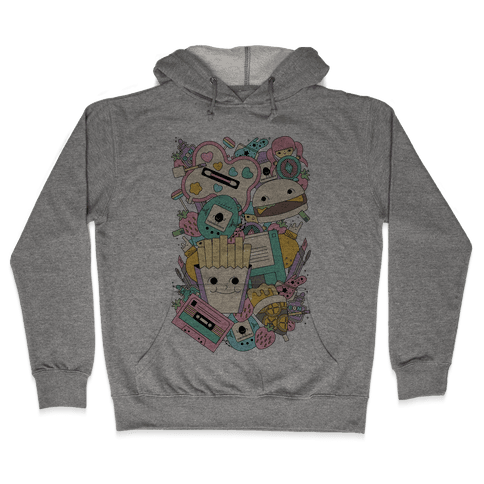 90s Toys Candy and Makeup Hooded Sweatshirt