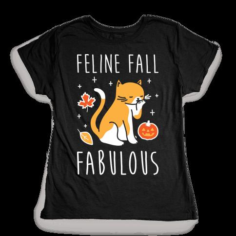 Feline Fall Fabulous Womens T-Shirt