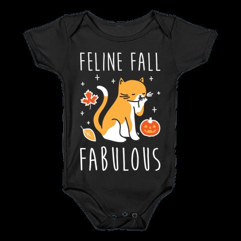 Feline Fall Fabulous Baby Onesy