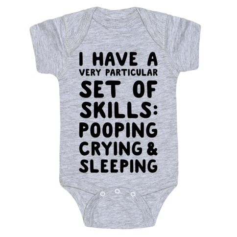 I Have a Very Particular Set of Skills Baby Onesy