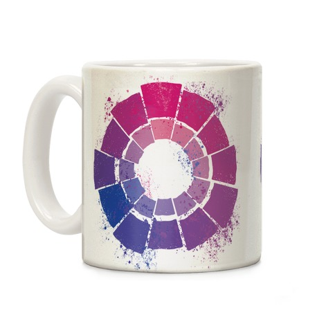 Bi Pride Color Wheel Coffee Mug