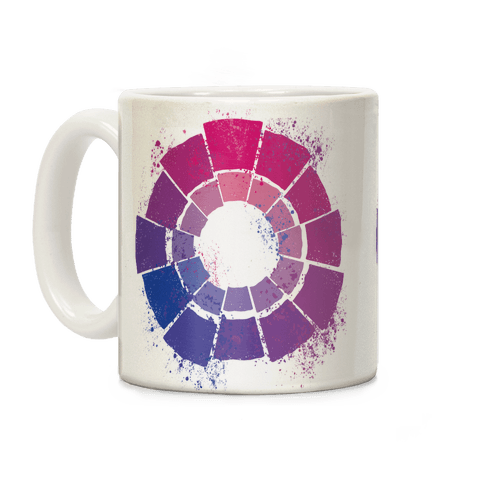 Bi Pride Color Wheel Coffee Mug