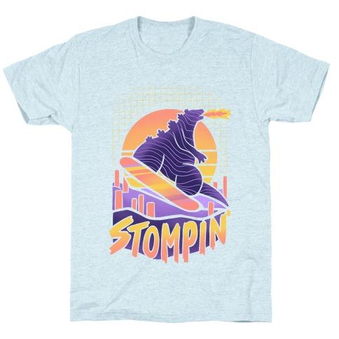 Stompin' Snowboarding Godzilla T-Shirt