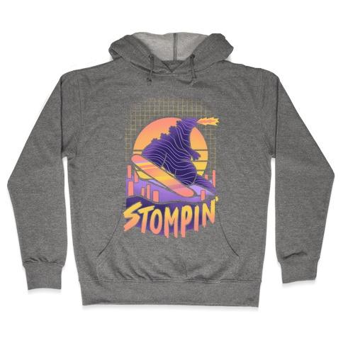 Stompin' Snowboarding Godzilla Hooded Sweatshirt