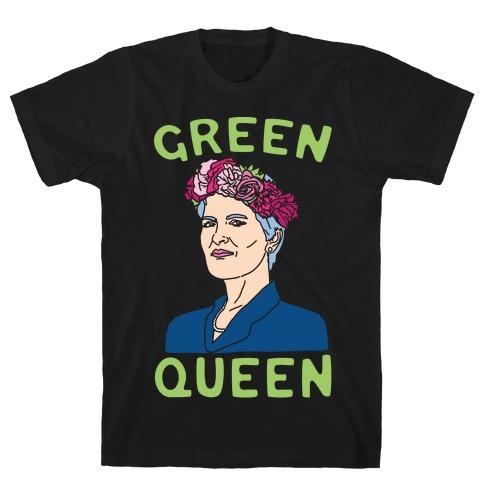 Green Queen White Print T-Shirt