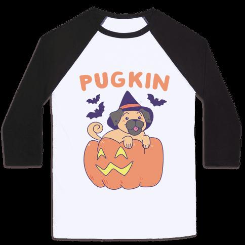 Pugkin Baseball Tee