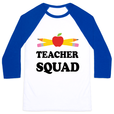 Teacher Squad Baseball Tee