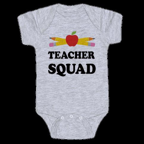 Teacher Squad Baby Onesy