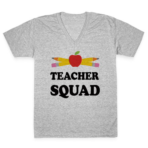 Teacher Squad V-Neck Tee Shirt