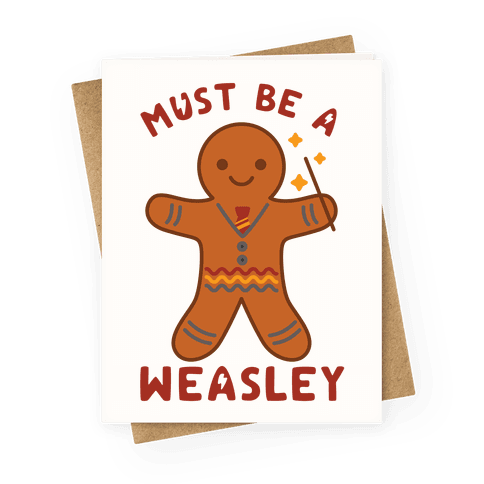Must Be a Weasley Greeting Card
