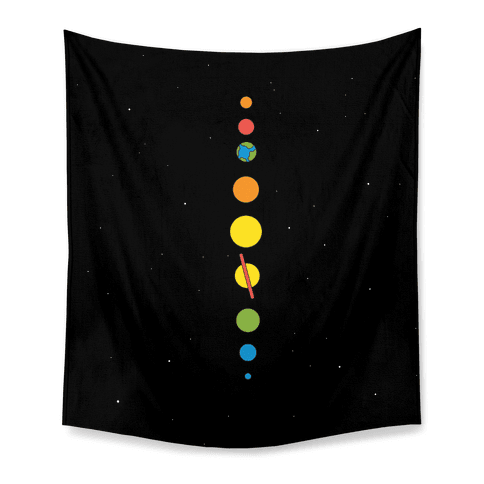 Retro Planets Tapestry