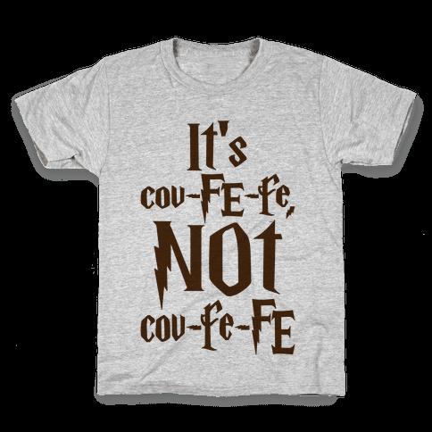 It's Covfefe Not Covfefe Parody Kids T-Shirt