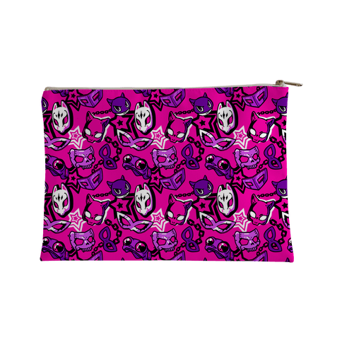 Persona Masks Pattern (Pink) Accessory Bag