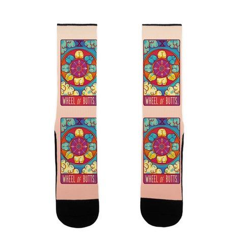 Wheel of Butts Tarot Sock