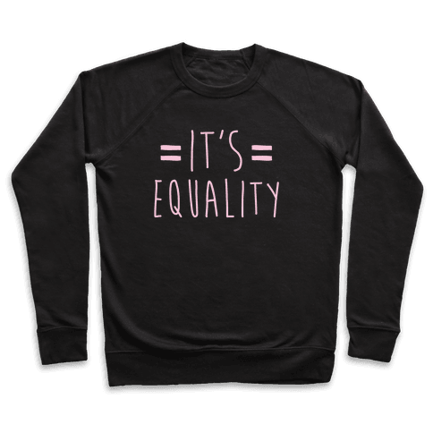 It's Equality White Print Pullover