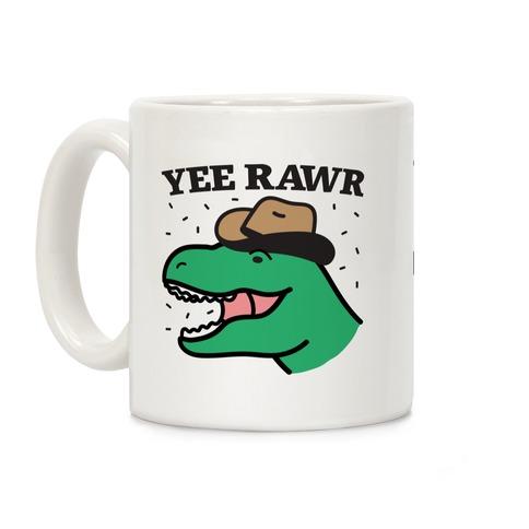 YEE RAWR Cowboy Dino Coffee Mug