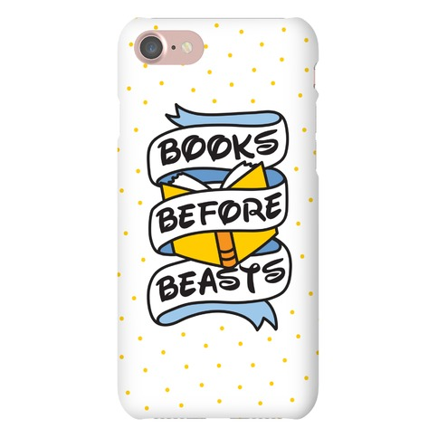 Books Before Beasts Phone Case