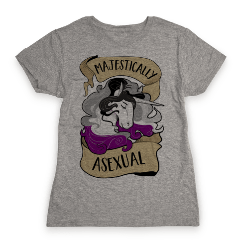 Majestically Asexual Womens T-Shirt