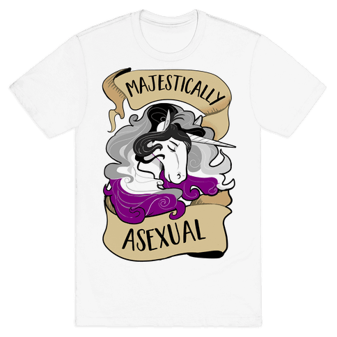 Majestically Asexual Mens T-Shirt