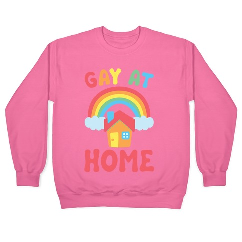 Gay At Home White Print Pullover