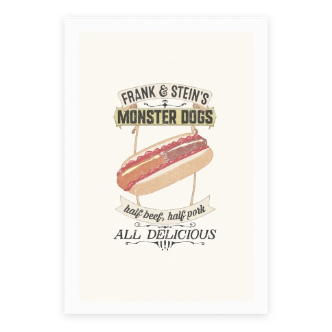 Frank & Stein's Monster Dogs Poster