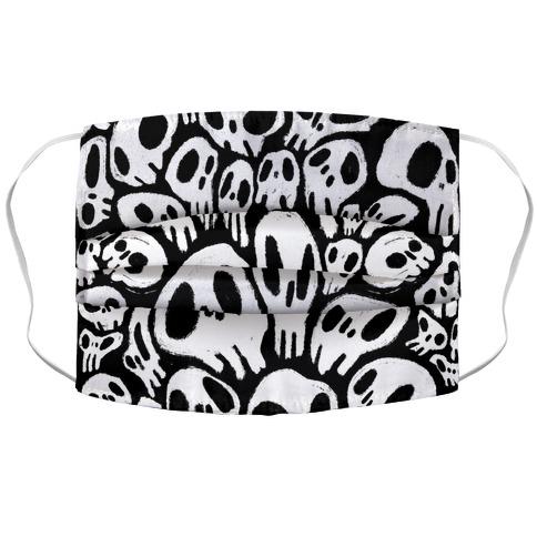 Soft Skulls Accordion Face Mask