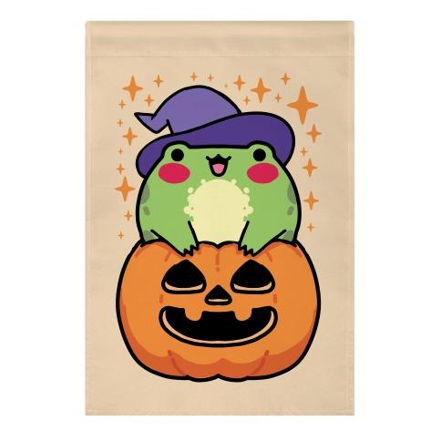 Cute Halloween Frog Garden Flag