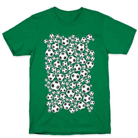 Soccer Balls Pattern T-Shirt
