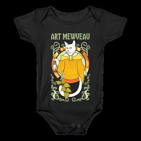 Art Mewveau Baby Onesy