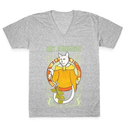 Art Mewveau V-Neck Tee Shirt