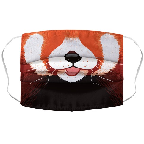 Red Panda Mouth Accordion Face Mask