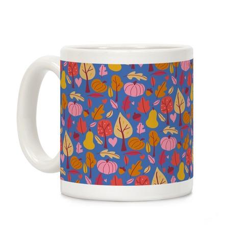Retro Fall Love Pattern Coffee Mug