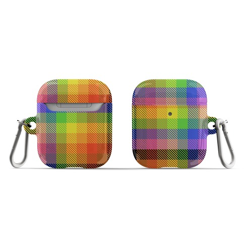 Pride Flag Plaid AirPod Case