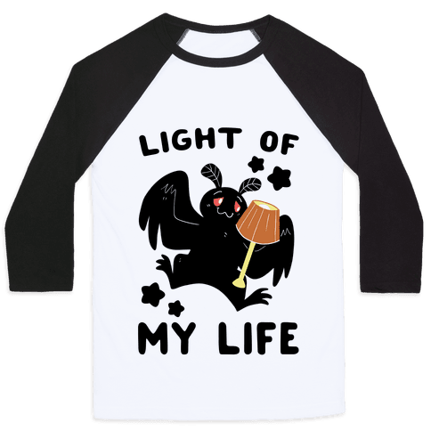 Light of my Life - Mothman and Lamp Baseball Tee