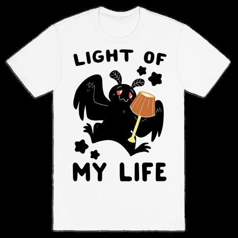 Light of my Life - Mothman and Lamp Mens T-Shirt