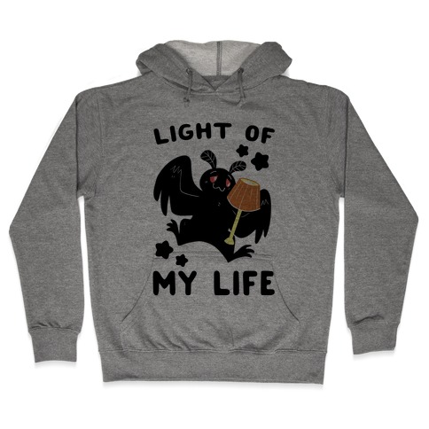 Light of my Life - Mothman and Lamp Hooded Sweatshirt