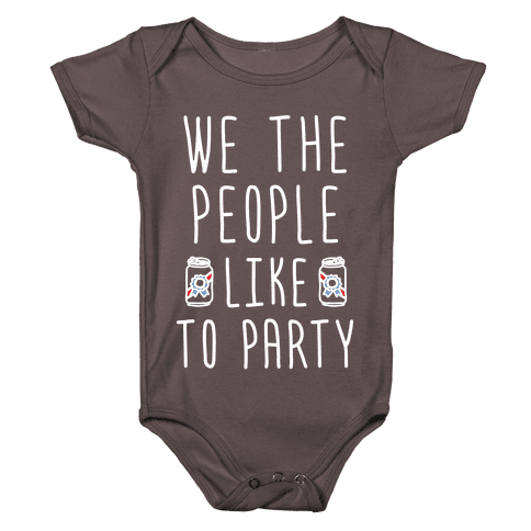 We The People Like To Party Baby One-Piece