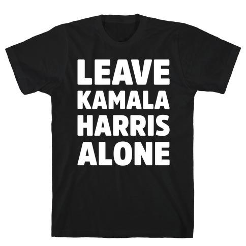 Leave Kamala Harris Alone White Print T-Shirt