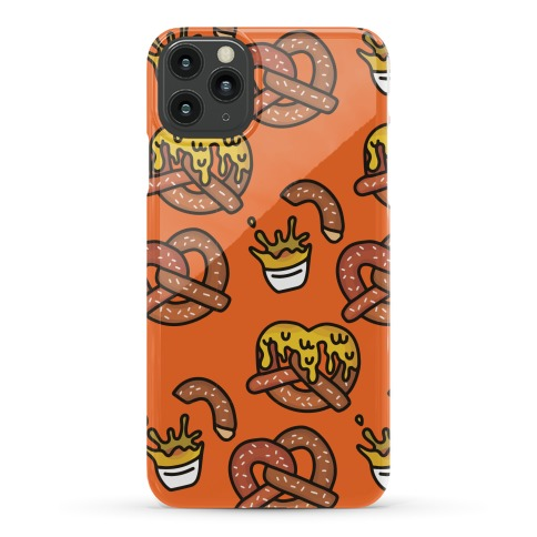 Cheesy Pretzel Pattern Phone Case