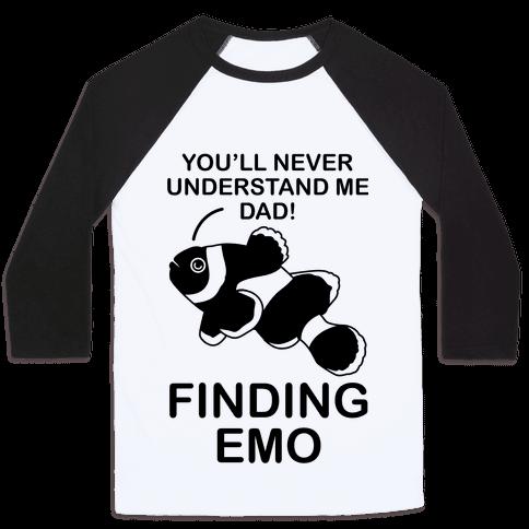 Finding Emo Baseball Tee