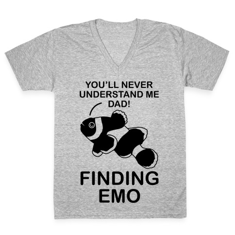 Finding Emo V-Neck Tee Shirt