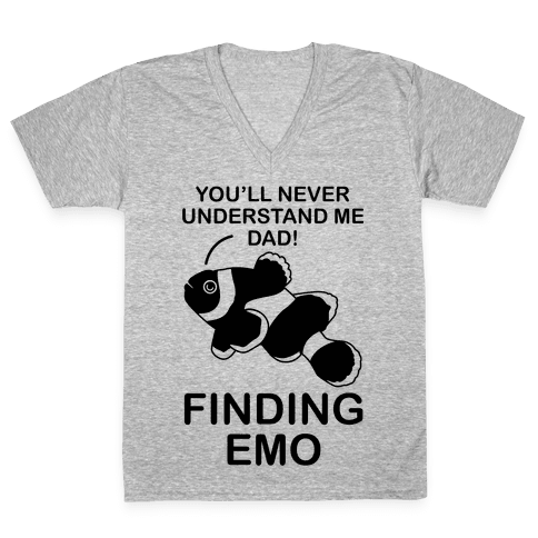 Finding Emo V-Neck Tee Shirt