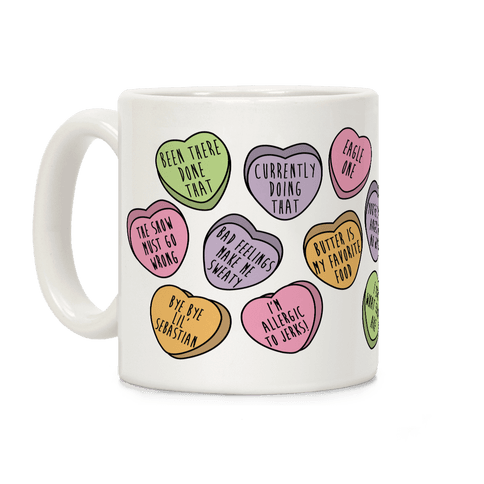 Andy Quotes Conversation Hearts Coffee Mug