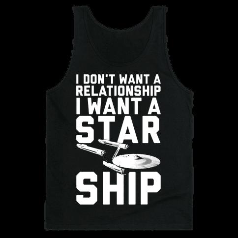 I Want A Starship Tank Top