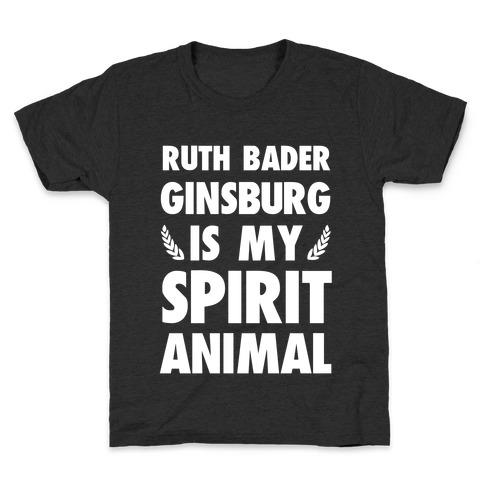Ruth Bader Ginsburg is My Spirit Animal Kids T-Shirt