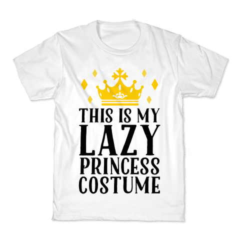 This Is My Lazy Princess Costume Kids T-Shirt