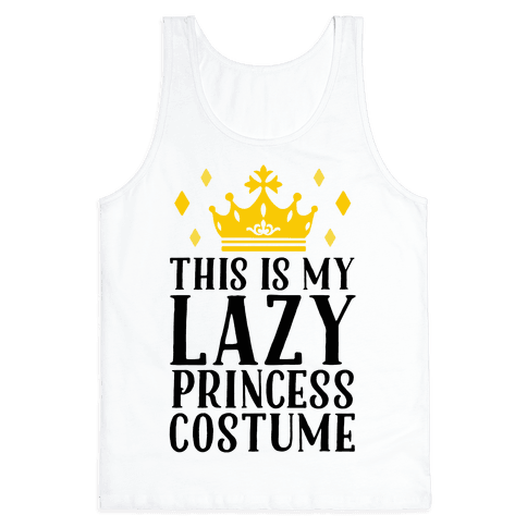 This Is My Lazy Princess Costume Tank Top