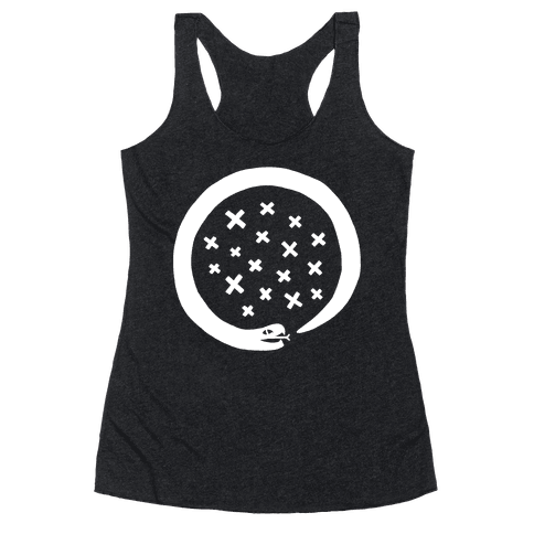 The Snake That Ate Itself Racerback Tank Top