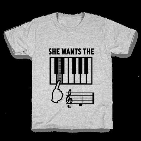 She Wants The D Kids T-Shirt