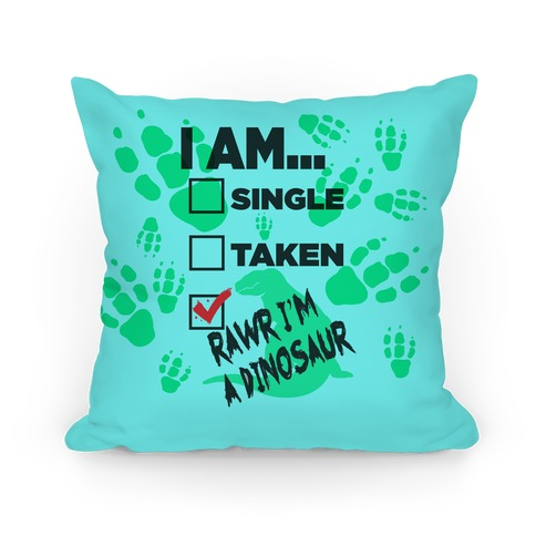 Rawr I'm A Dinosaur! Pillow